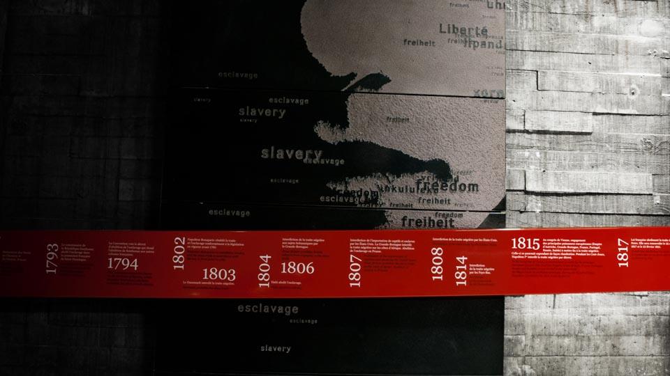 Mémorial des Esclaves Nantes Scénographie